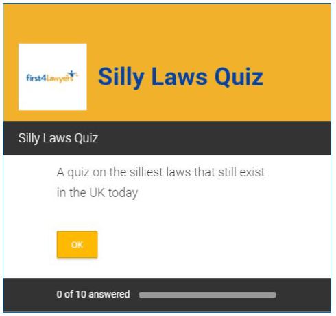 Take our silly laws quiz now